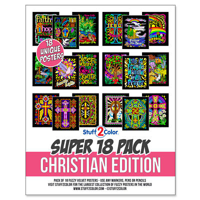Super Pack of 18 Fuzzy Velvet 8x10 Inch Posters