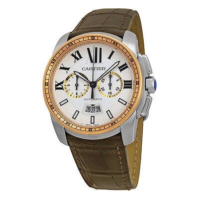 Cartier Mens Calibre De Cartier 18Kt Rose Automatic Swiss Made Watch W7100043