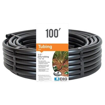 1/2 In 100 Feet Drip Line Micro Sprinkler Irrigation Emitter System Tubing Hose