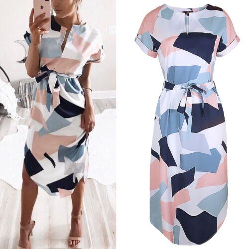 $10.99 - Women Summer Boho Short Maxi Dress Cocktail Evening Party Dresses Beach Sundress