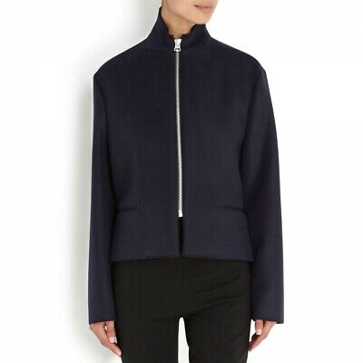 Acne Studios 'Etta' Wool Felt Jacket in Navy Blue Sz 36 US 6