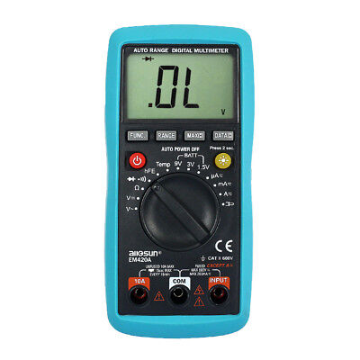 Digital Multimeter Lcd Display Auto Range Meter Ac Dc Volt Amp Ohm Temp Tester