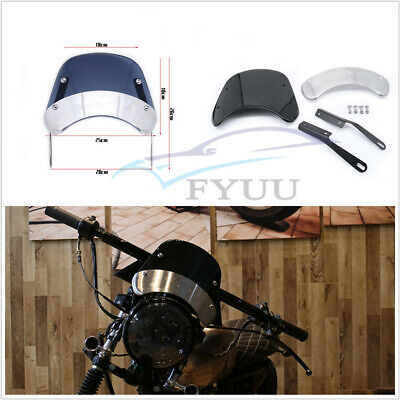 RETRO MOTORCYCLE MODIFICATION WINDSHIELD FOR 5 7ROUND HEADLIGHTS FR