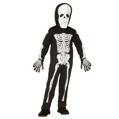 SKELETT KOSTÜM KLEIN KINDER  MASKE Halloween Karneval Zombie Party 110/116 4375