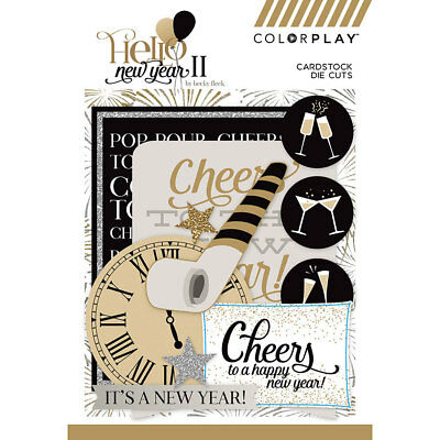 Scrapbooking Crafts Die Cuts Happy New Year Champagne Clock Party Favors Cheers - New Year Crafts