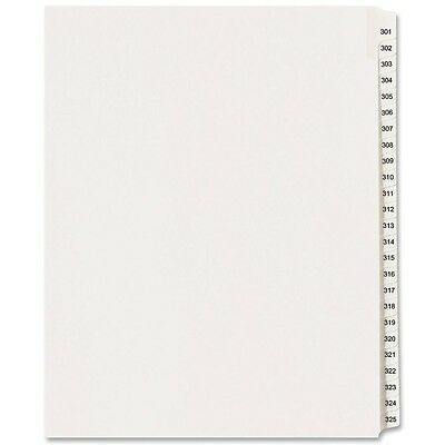 """Avery Legal Exhibit Reference Divider - Printed301 - 325 - 8.50"""" X (ave01342)"""