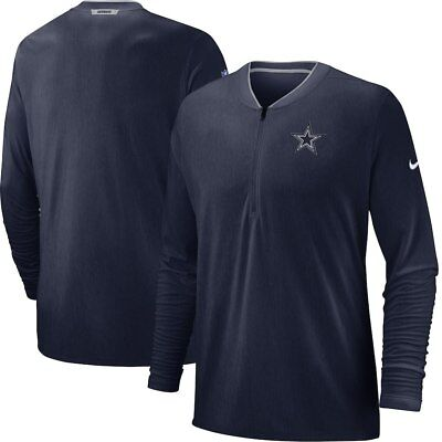 (Dallas Cowboys Nike Sideline Coaches Half-Zip Pullover Jacket Navy NEW WITH TAGS)