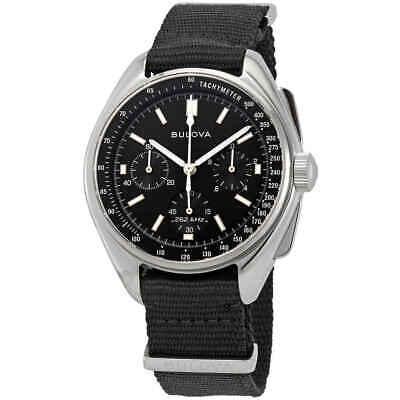 Black Dial Special Edition (Bulova Special Edition Lunar Pilot Chronograph Black Dial Men's Watch)