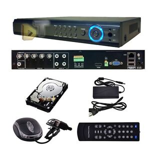 4Ch Channel Full D1 HDMI CCTV Video Record Camera Security DVR system system 1TB
