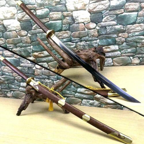 Chinese KungFu Miao Knife WuShu Broadsword Dao Sword Sharp T1095Carbon Steel
