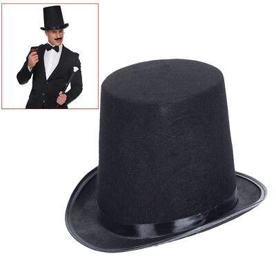 HOHER ZYLINDERHUT Zylinder Gentleman Schornsteinfeger Zauberer Kostüm Hut (Zylinder Kostüme)