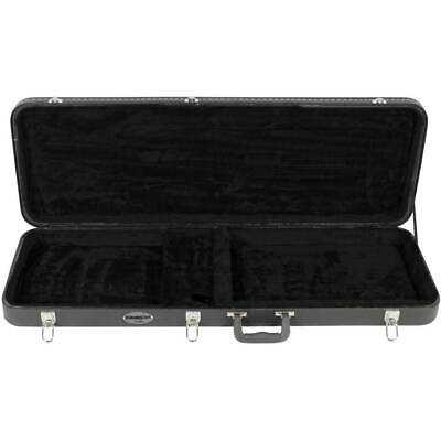Electric Guitar Hard Wood Case Lockable Instrument Protection 4 Latches and Key