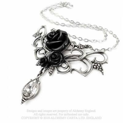 Joyería/Collar/Colgante -Peltre- Gótico/Mystic - Bacchanal (Negro) Rosa