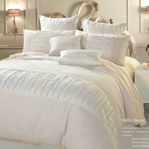 Luxton-Linen-Kello-Ivory-Queen-or-king-Duvet-Quilt-Cover-Set-3pcs-Bedding-set
