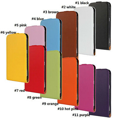 Hot For Samsung Galaxy S5 Best Genuine Leather Flip Case Open Up (Best Screen Protector For Galaxy S5)