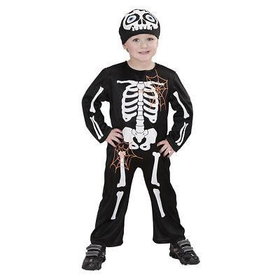 KINDER SKELETT KOSTÜM & MASKE # Halloween Sensenmann Gerippe Jungen 98/104 - Jungen Sensenmann Kostüm
