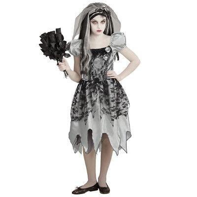 HALLOWEEN KOSTÜM KINDER Geisterbraut Kleid Mädchen Skelett Zombie Party # 0546