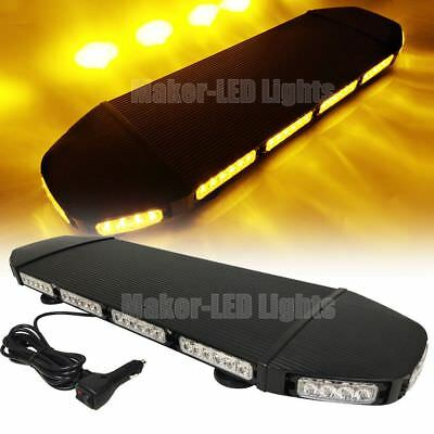 27.9 216w Led Warning Emergency Response Flash Roof Top Strobe Light Bar Amber