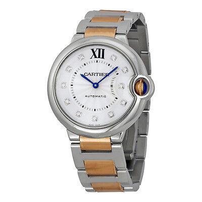 Cartier Ballon Bleu Silver Dial Steel and 18k Rose Gold Unisex Watch WE902031