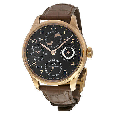 IWC Mens Portuguese Perpetual Calender 18Kt. Gold Automatic Swiss Watch IW502122