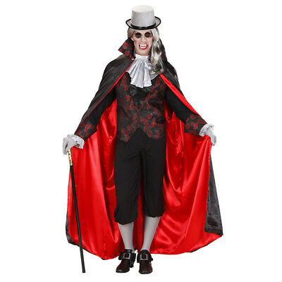 PREMIUM VAMPIR HERREN KOSTÜM Halloween Karneval Dracula Umhang Verkleidung 8942 ()