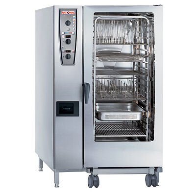 Rational Model 202 A229206.19d202 Gas Combi Oven With Twenty Full Size Sheet Pa