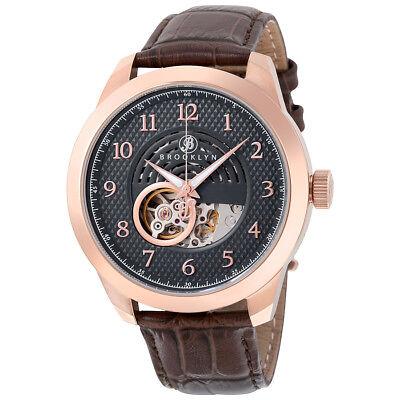 Brooklyn Watch Co. Carlton Skeleton Automatic Grey Dial Men's Watch 203-M3831