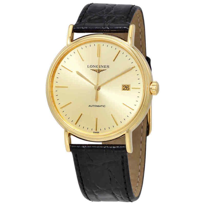 Longines-Presence-Automatic-Gold-Dial-Men-Watch-L49212322