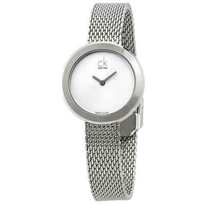 Calvin Klein Firm Quartz Silver Dial Ladies Watch K3N23126