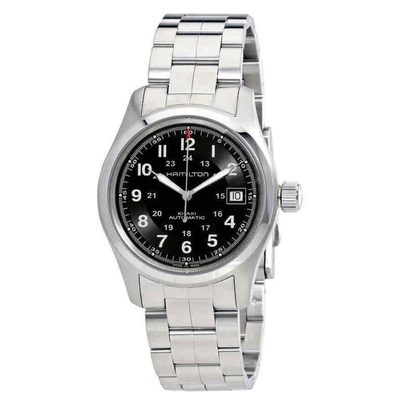 Hamilton Khaki Field Automatic Black Dial Men Watch H70455133