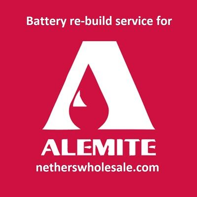 Re-build Service For Alemite 12 Volt Cordless Grease Gun Battery 339804