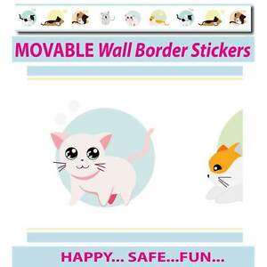 Cute Kittens Wall Border Wall Stickers - Totally Movable Silverwater Auburn Area Preview
