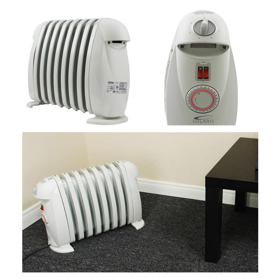 $35.99 - DeLonghi Portabel Electric Radiant Heater for Home Bathroom Office w/ Timer