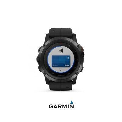 Reloj deportivo Fénix 5 plus GARMIN (plata con correa negra)