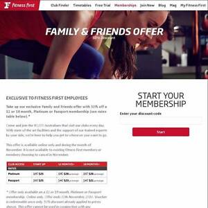 WANT: 50% off Fitness First Platinum Family & Friends Membership Sydney City Inner Sydney Preview