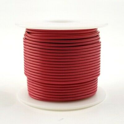 20 Awg Gauge Solid Red 300 Volt Ul1007 Pvc Hook Up Wire 100ft Roll 300v
