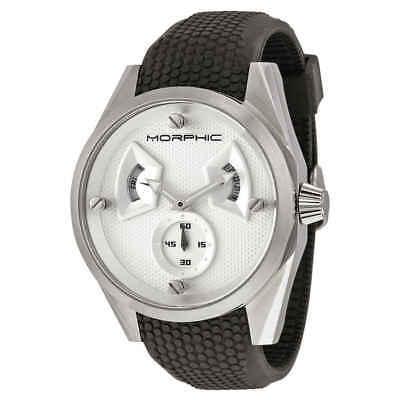 - Morphic M34 Series Steel Case Silver Engraved Pattern Dial Men's Watch 3401