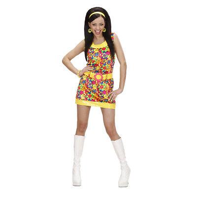60er 70er JAHRE DAMEN KOSTÜM Schlagermove Flower Power Hippiekostüm Hippie Kleid (70er Jahre Kostüme)