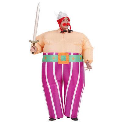 AUFBLASBARES WIKINGERKOSTÜM Dicker Gallier Wikinger Vikinger Herren Kostüm - Viking Kostüm