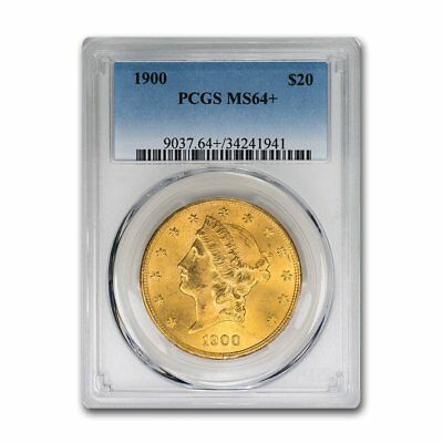 1900 $20 Liberty Gold Double Eagle MS-64+ PCGS - SKU#158263