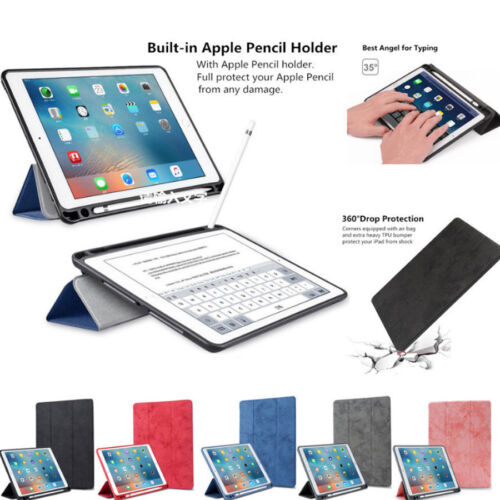 For Apple iPad Shockproof PU Leather Smart Stand Case Cover