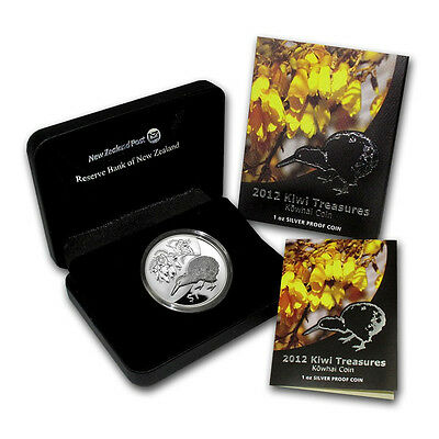 Neuseeland Kiwi - 2012 - Silber $1 PP Munzen- 1 OZ Kiwi Treasures RAR  online kaufen