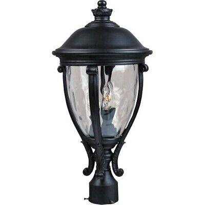 - Maxim Camden VX 3-Light Outdoor Pole/Post Lantern Black - 41421WGBK