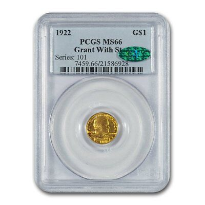 1922 Gold $1.00 Grant w/Star MS-66 PCGS CAC - SKU#157210