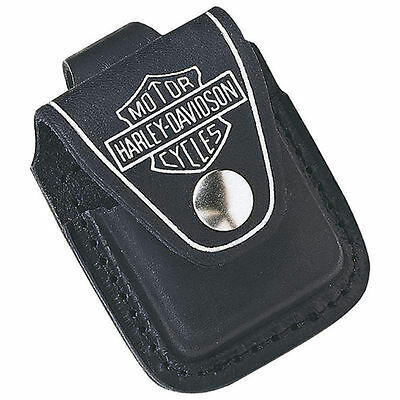 Zippo Harley Davidson Leather Lighter Pouch, HDPBK, New In Box