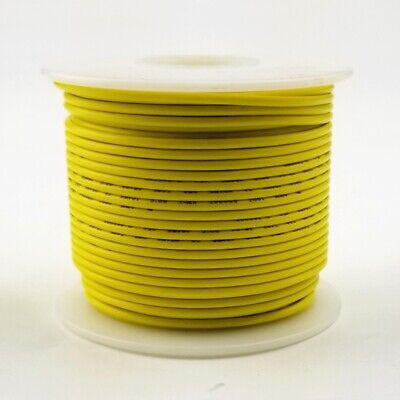 20 Awg Gauge Solid Yellow 300 Volt Ul1007 Pvc Hook Up Wire 100ft Roll 300v
