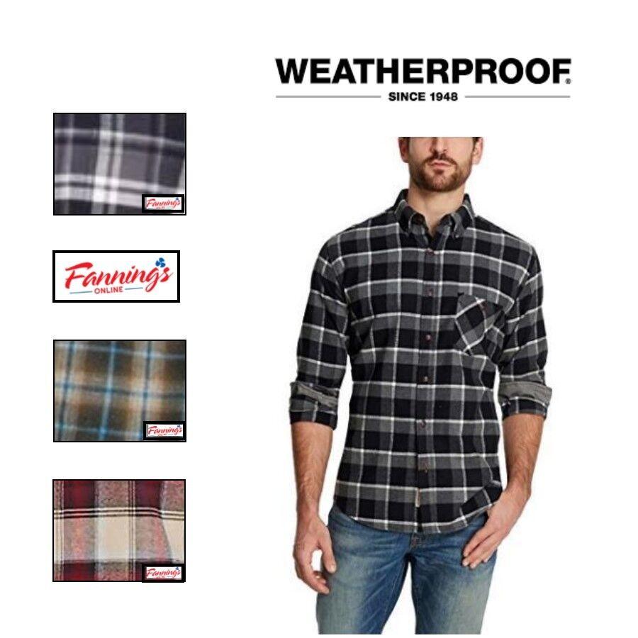 Weatherproof Vintage Men's Long Sleeve Lightweight Plaid Fla