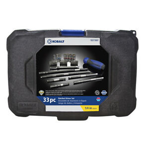 Kobalt 33 Piece Standard SAE And Metric Mechanic's Tool Set With Hard Case