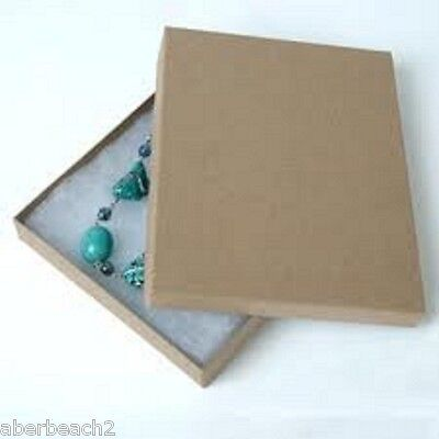 Lot Of 20 Cotton Filled Jewelry Gift Boxes 7 18x 5 18 X 1 18 Kraft