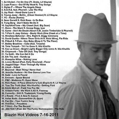 Promo Video Compilation DVD, Blazin Hot Videos July 2011 Fresh Urban HipHop R&B